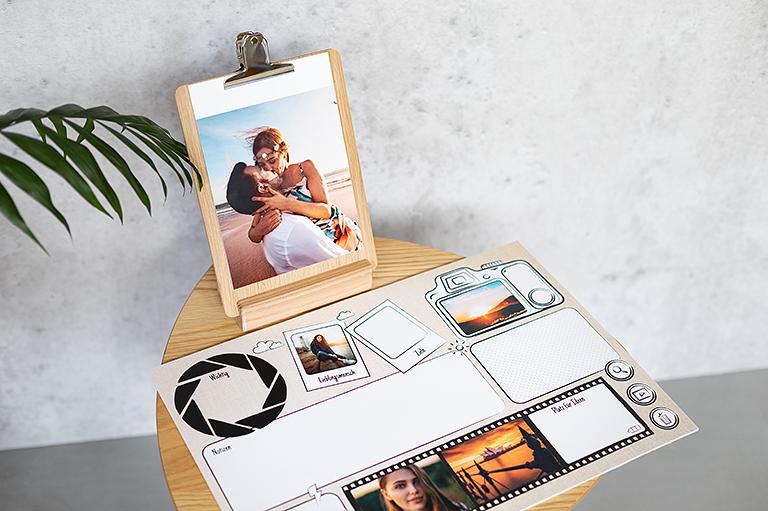 Der Fotoplaner in verschiedenen Varianten, wie z.B. als Schreibtischunterlage oder Familienplaner.